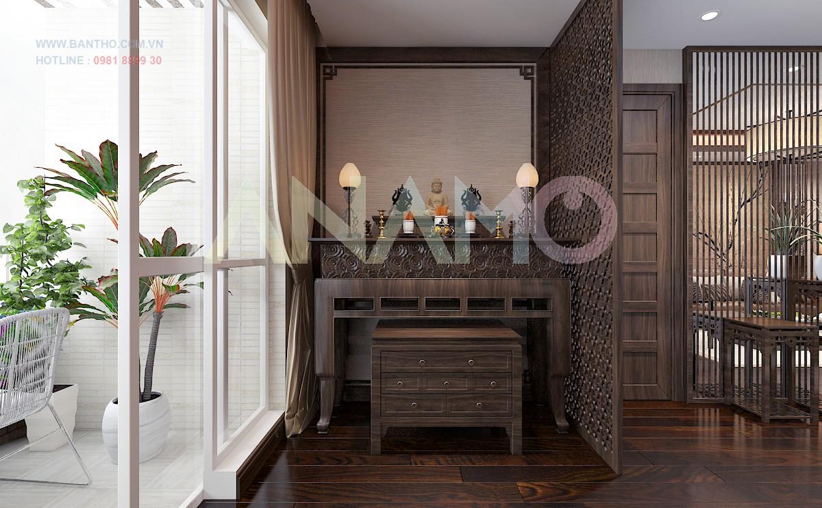 mẫu bàn thờ gian án rồng đẹp tại hà nội