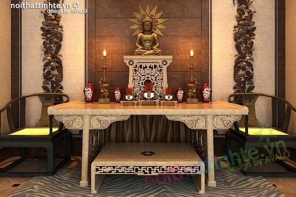 thiết kế bàn thờ anamo