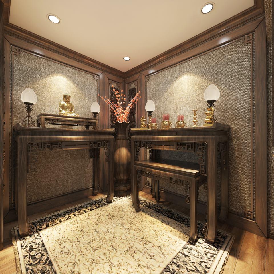 bàn thờ hiện đại cho căn biệt thự của bạn