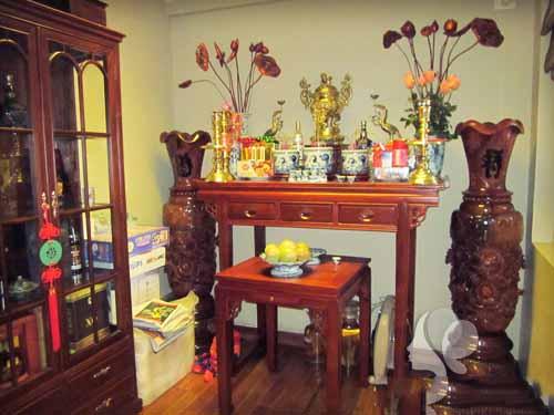 bài trí bàn thờ gia tiên
