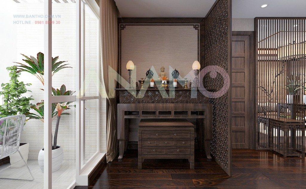Những lưu ý bày trí bàn thờ tủ thờ nhà chung cư