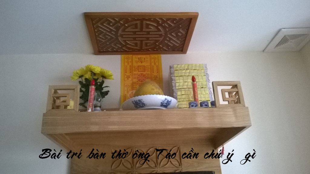 Bài trí bàn thờ ông Táo cần chú ý những gì?