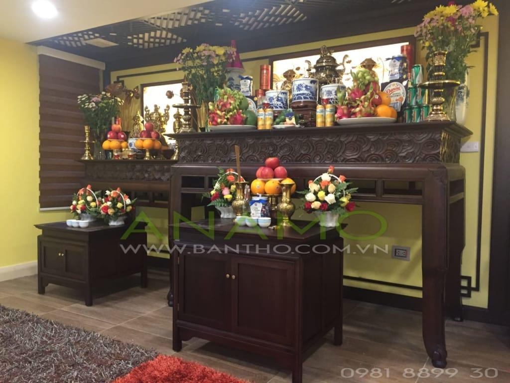Bố trí phong thủy bàn thờ