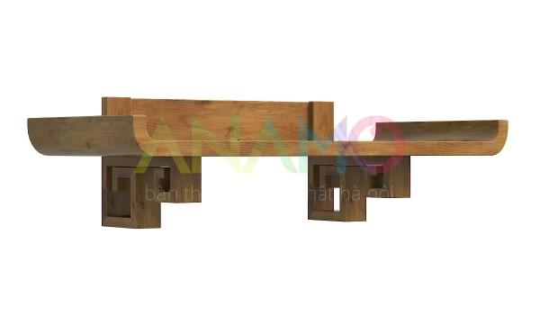 Bày trí bàn thờ treo tường gỗ sồi đúng phong thủy