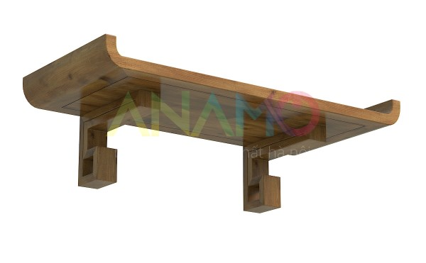 Bàn thờ treo tường gỗ sồi Anamo ABT-22
