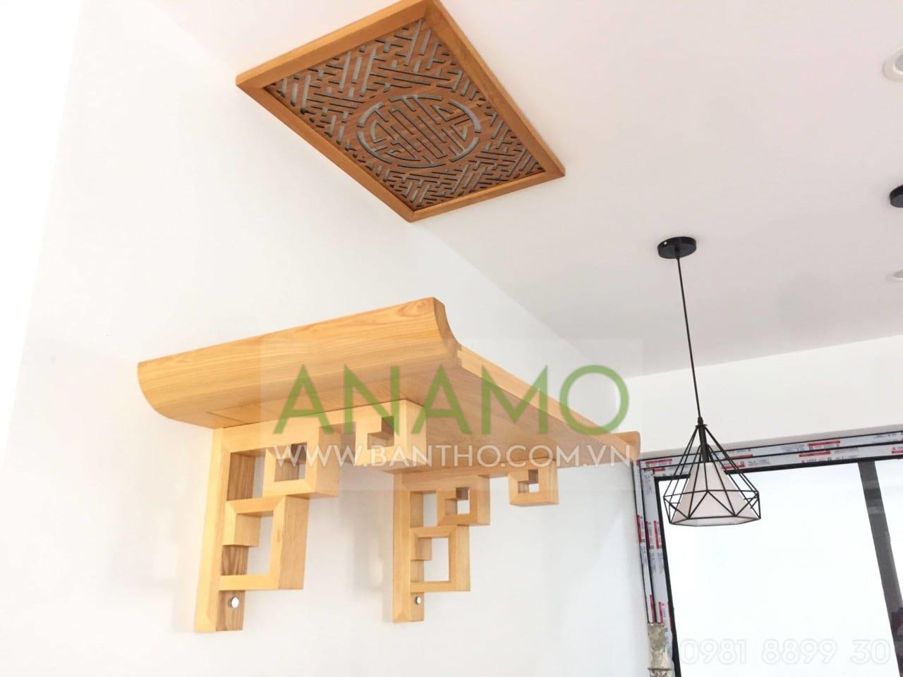 Có thể chọn mẫu bàn thờ treo cho nhà chung cư với kích thước nhỏ gọn