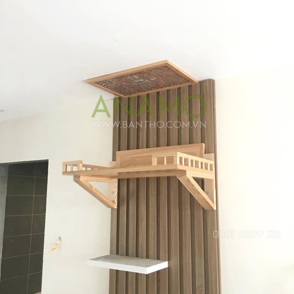 Bàn thờ treo tường đẹp với chất liệu gỗ đẹp tại Bàn Thờ Anamo
