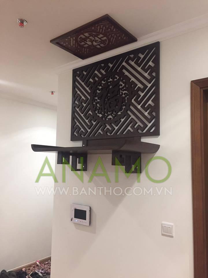 Bàn thờ treo tường Anamo giúp tiết kiệm một phần diện tích ngôi nha