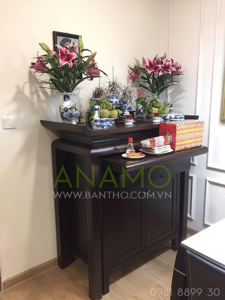 Góc nhỏ chiếc tủ thờ xinh đẹp của một khách hàng tại Hà Nội