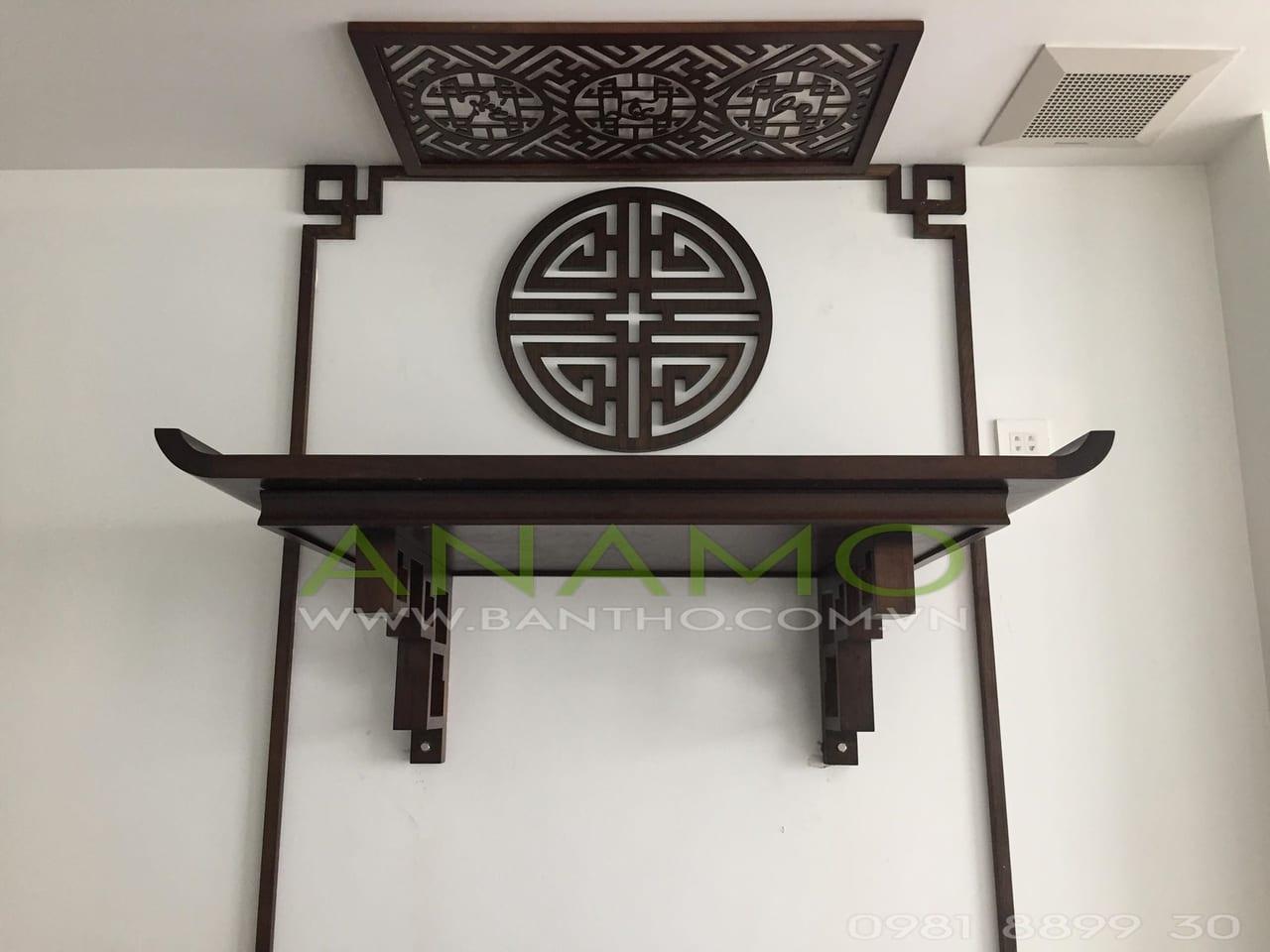 thiết kế bàn thờ treo tường phong cách ANAMO