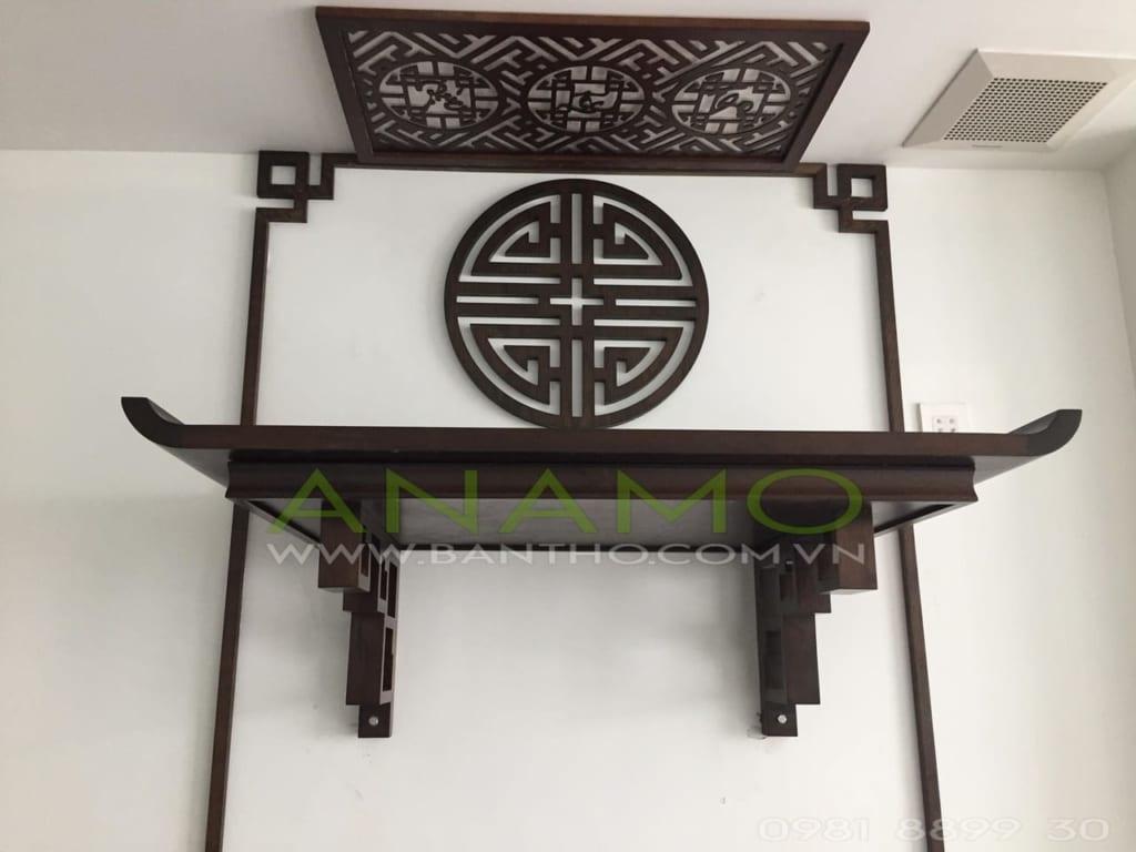 bàn thờ treo tường đẹp cho nhà chung cư