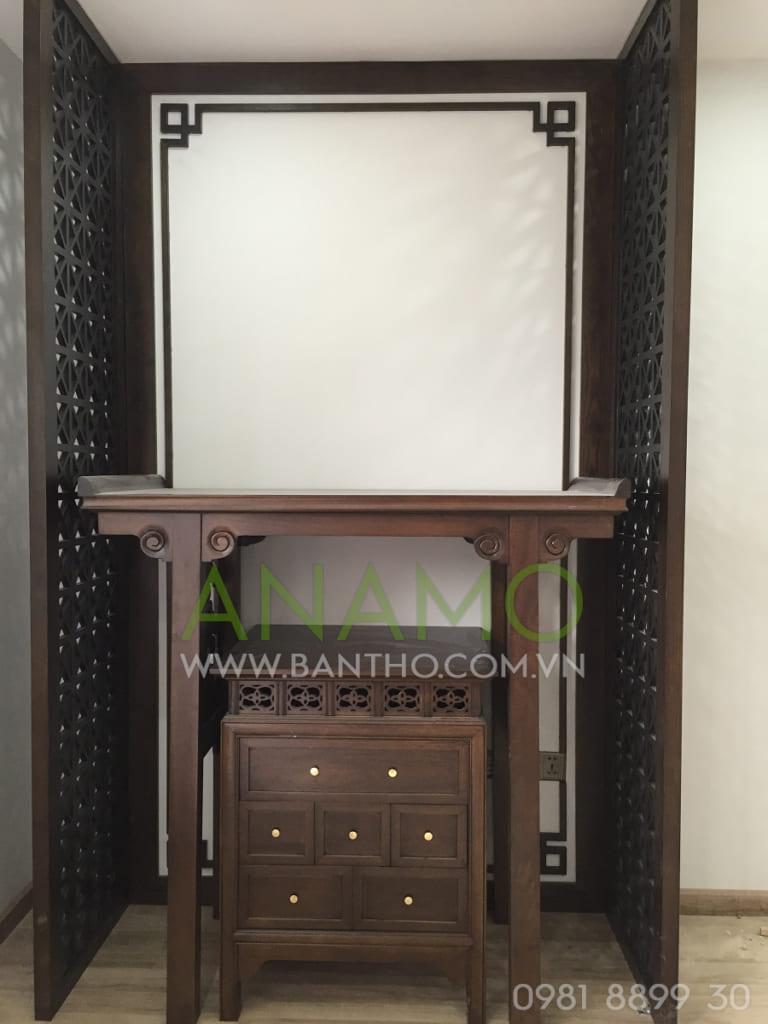 Phòng thờ nhà cô Chi - Pen Studio Lạc Long Quân - ABT 11 gỗ Gụ