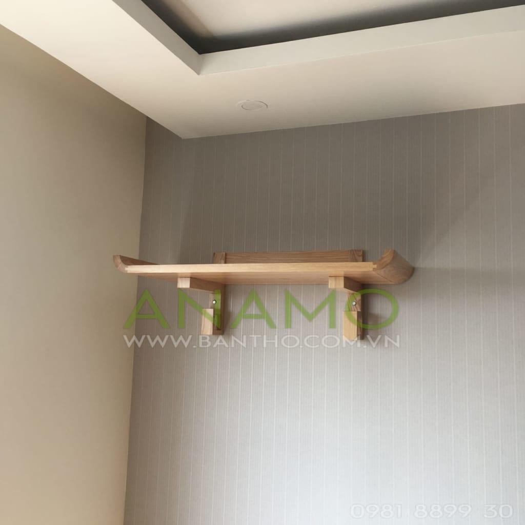 bàn thờ treo tường gỗ mít