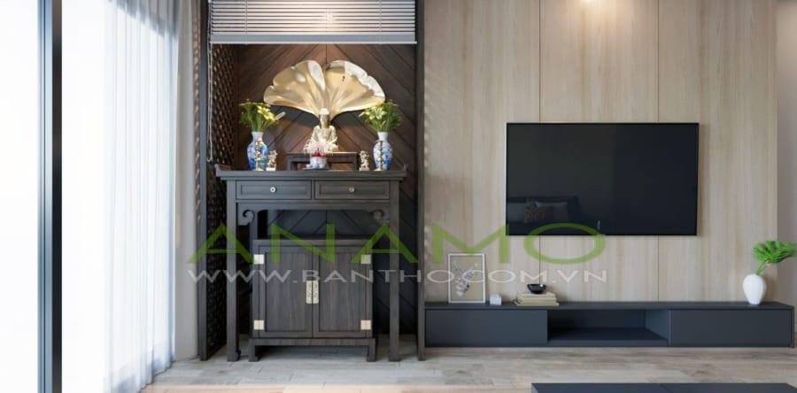 Bàn thờ cho căn hộ chung cư với thiết kế hiện đại