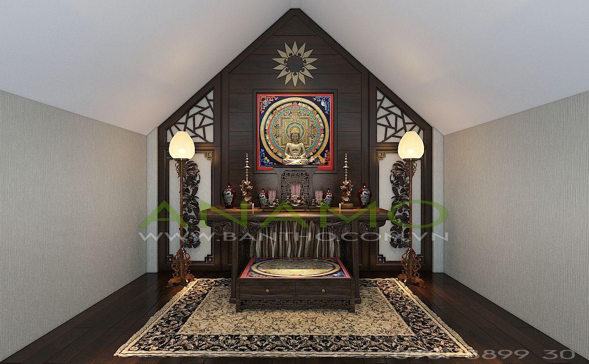 thiết kế bàn thờ cho biệt thự